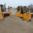 Piaskarz is running five of Dressta's latest TD-15M extra medium-sized dozers.