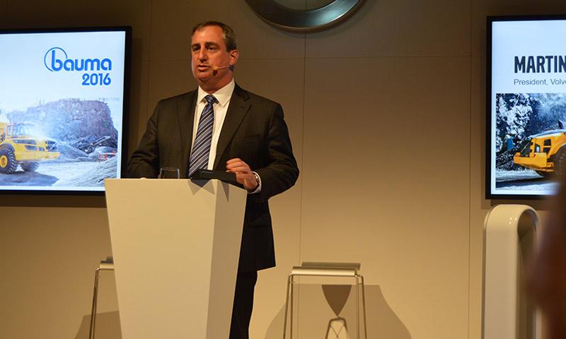 Martin Weissburg, president of Volvo Construction Equipment