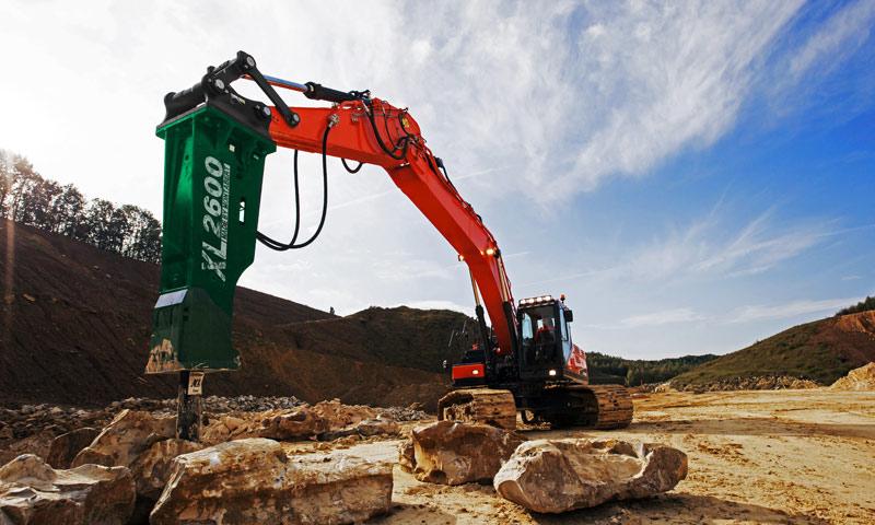 Montabert hydraulic hammer