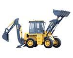 SDLG backhoe loader
